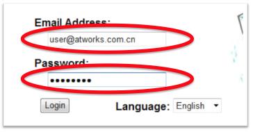 Passwordに管理者用パスワードを入力
